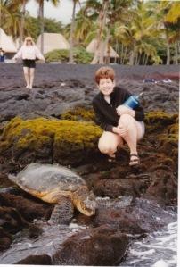 Big Island 1993 Black Sand Beaches & Good Friends