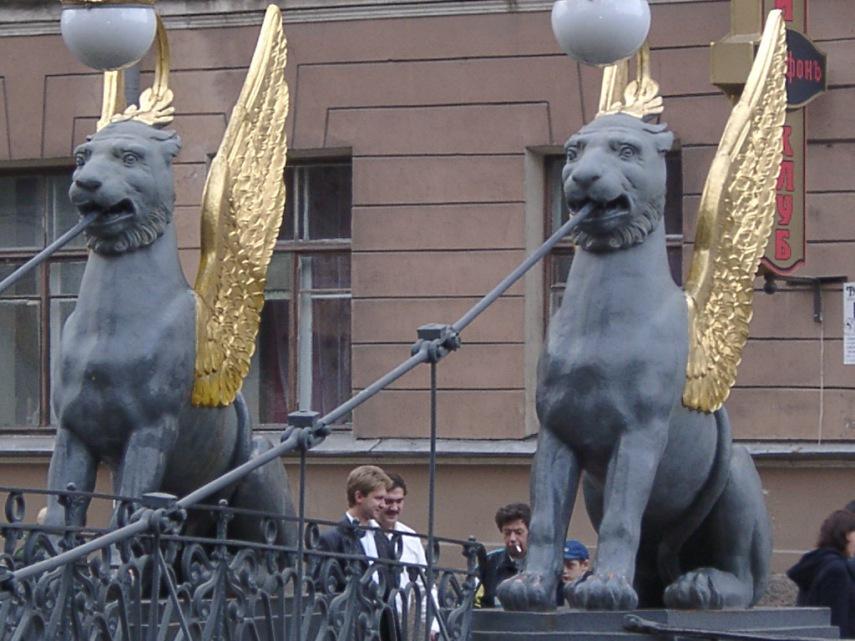 Russia Bridge Lions