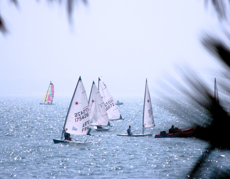 Recreational Sport Vacation Yachting On The Ocean In The Summer